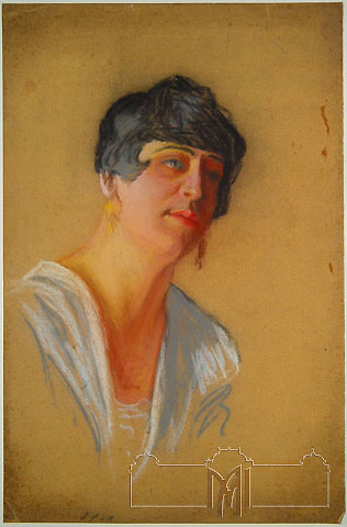 Grigore Fiurer (1886-1962) Portrait of a woman, 20th cent, paper, pastel, 49,8x32,7cm